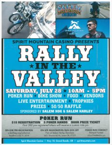2018 Rally in the Valley Poker Run in Salem, Oregon